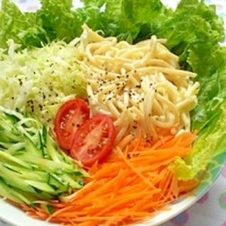生野菜のパスタサラダ