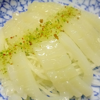 アレンジ!イカのお刺身とツマで美味しいカルパッチョ