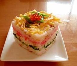 菱餅風ちらし寿司