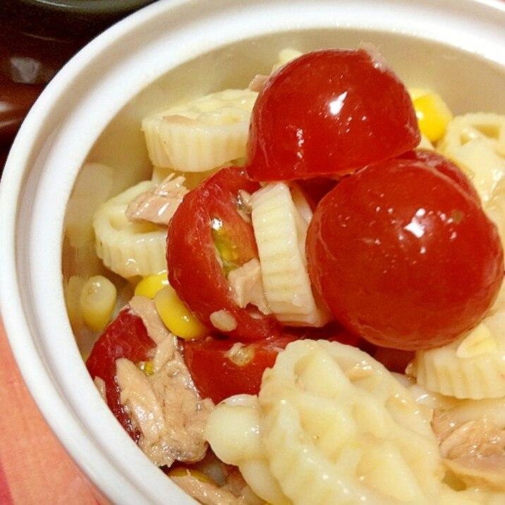 ドレッシングだけ♪ トマトとツナのマカロニサラダ