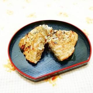 玉葱入り♪蕎麦粉と米粉のおかずパンケーキ