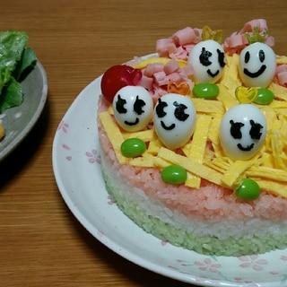 簡単可愛いひなちらしケーキ