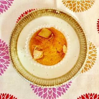 ほっこり☆彡 ホワイトチョコとかぼちゃのマフィン