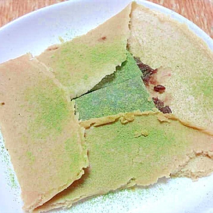 蕎麦粉のクレープ抹茶八ツ橋餡包み