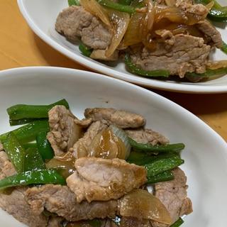 豚ヒレ肉の青椒肉絲風炒め