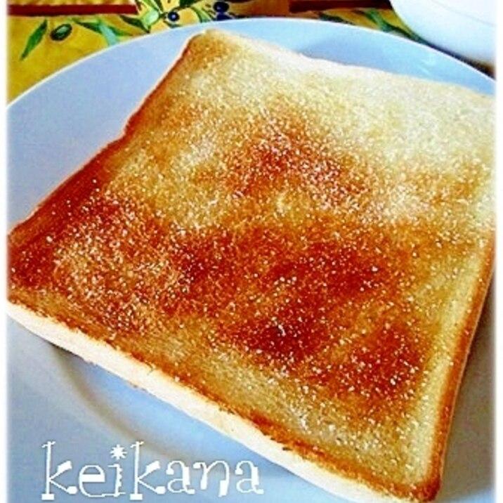 毎日の朝食に☆ココナッツオイルで塩トースト♪
