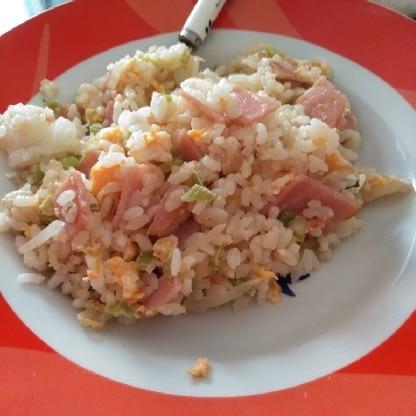 簡単に出来ましたー(^^)/ 朝か昼ご飯によく作ってます。 家にある調味料で作れるし良いですよね(^^♪