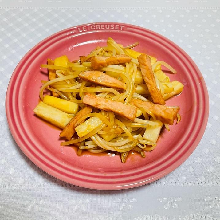 焼肉のたれで簡単に☆ロースハムと長芋炒め