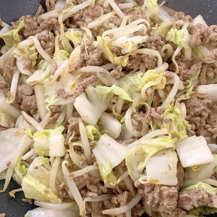 ♡簡単おいしい♡白菜ともやしの肉野菜炒め♡