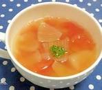 トマトと玉ねぎのコンソメスープ