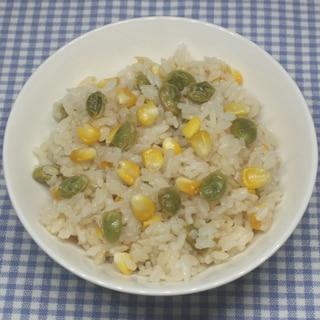 嵐相葉☆乾燥トウモロコシ枝豆バター醤油炊き込みご飯