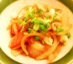 トマトと玉ねぎの和風炒め