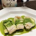 ワインに日本酒に、鱧と水茄子のジェノベーゼ