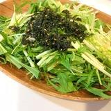 水菜チョレギサラダ☆自家製ドレッシング