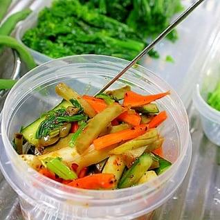 ザーサイと野菜の中華和え