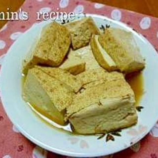 冷めても美味しい焼き豆腐の煮物