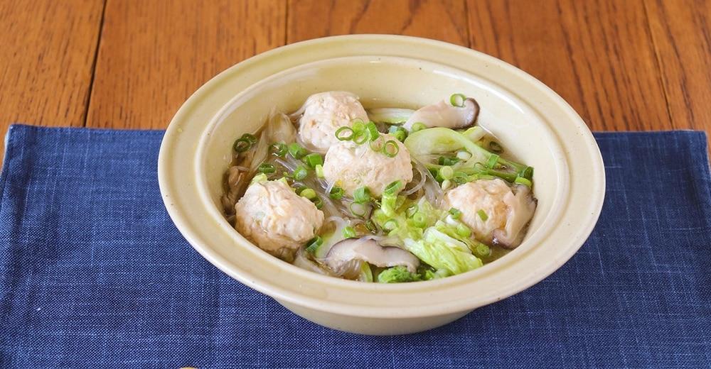 「生姜が効いた鶏団子のポカポカ栄養満点スープ」レシピ
