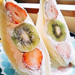 簡単☆かわいいフルーツサンド