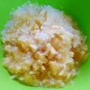 風邪からの回復期に!高野豆腐入りリンゴ味お粥