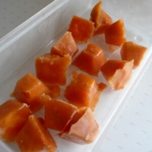 大量の柿の消費に! 柿の簡単一口シャーベット☆