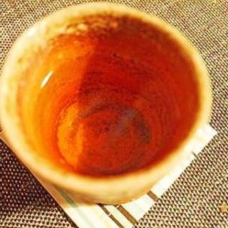 美味しい☆玄米茶で梅酒