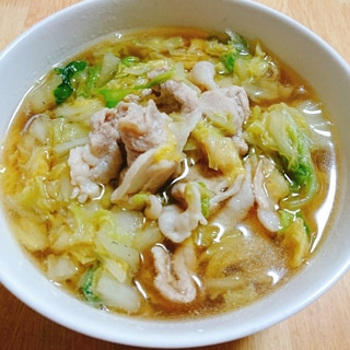 白菜たっぷり醤油らーめん(神座風)