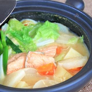 鮭と塩麹の石狩鍋風