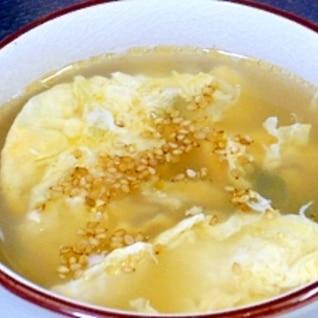 卵とミョウガの中華スープ☆