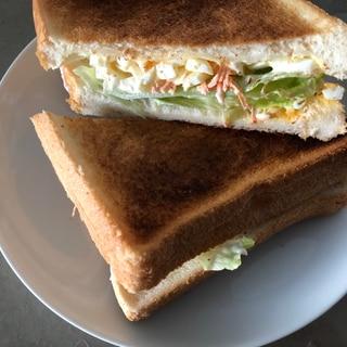 野菜たっぷり玉子トーストサンド