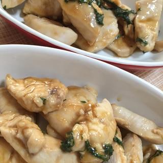 鶏胸肉のニンニクわさび炒め
