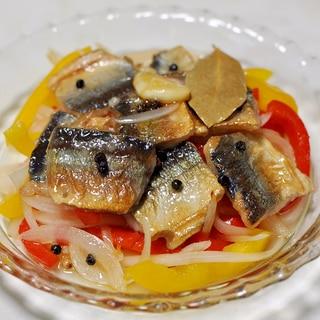 秋刀魚と香味野菜のマリネ