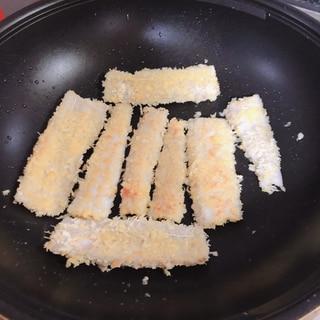 フライパンで太刀魚フライ!