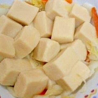 レンジで高野豆腐と野菜煮 (ガスコンロ故障~)