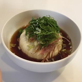 薬味たっぷり!寄せ豆腐