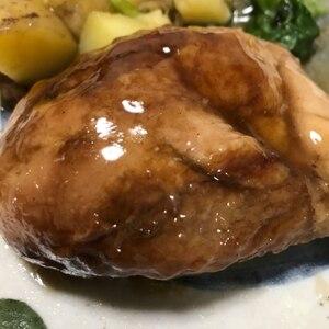 骨付き鶏もも肉のローストチキン(フライパンで)