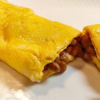 とろ〜りチーズ入り☆納豆オムレツ