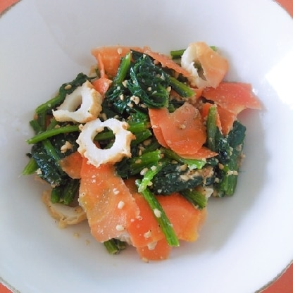 人参や竹輪、ゴマも入って健康に良い嬉しいレシピです!彩りも綺麗で美味しかったです(^^) ありがとうございました。