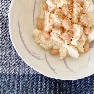 ごま香る 大豆と木綿豆腐の胡麻ドレッシング和え