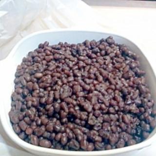 小豆を炊飯器で。簡単、失敗なし。
