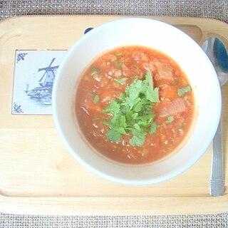 心がほっ、レンズ豆&トマトスープ、コリアンダー風味