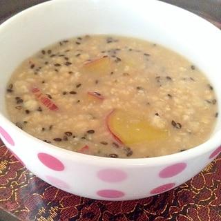 食物繊維たっぷり♪さつま芋とオートミールの味噌粥♡