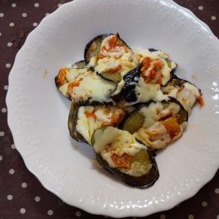 茄子とキムチのチーズ焼き