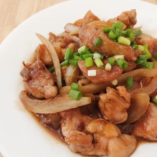 鶏もも肉のコロコロ甘辛炒め✩