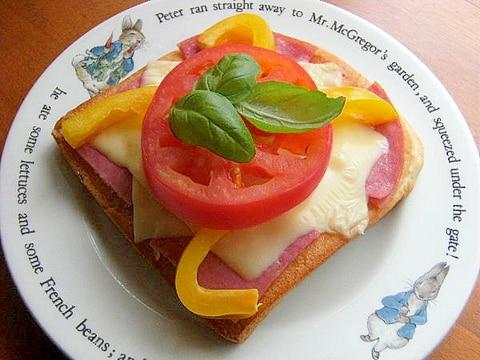ハム&チーズの置き方工夫で❤パン耳トースト♪