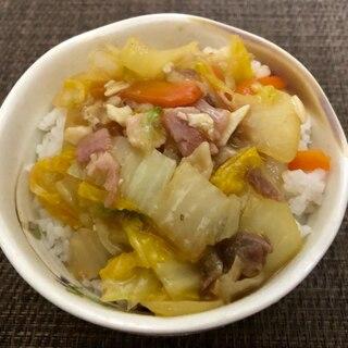 白菜&ベーコンのお手軽中華丼