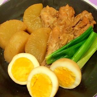 簡単!!大根と鶏の手羽元の甘辛煮