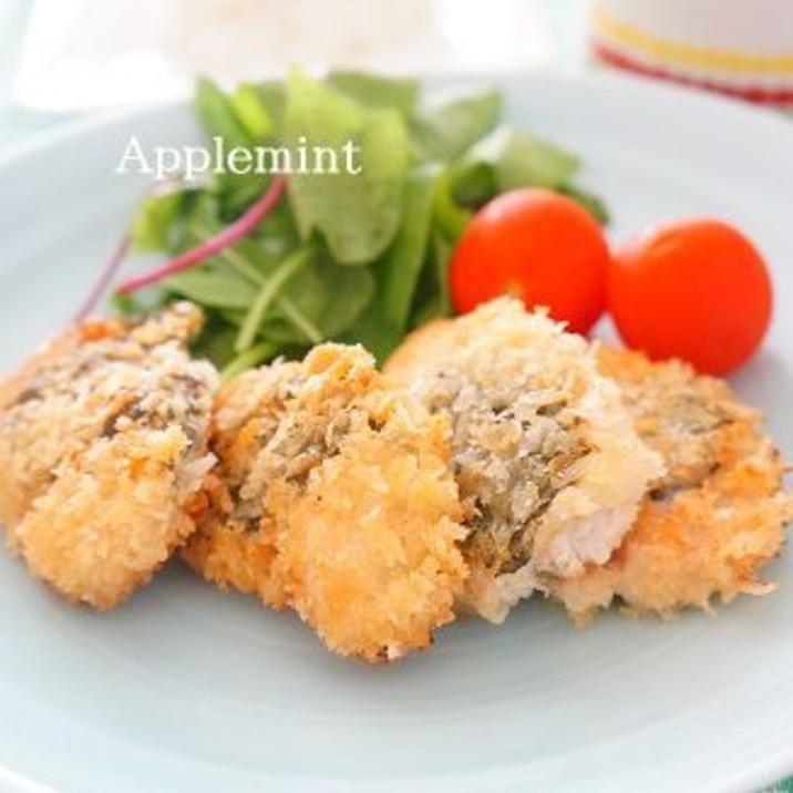 鶏胸肉のしそサンドミラノ風一口カツ