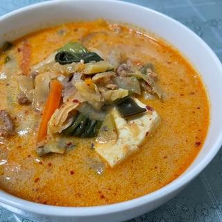 辛ウマ♡豆乳チゲスープ