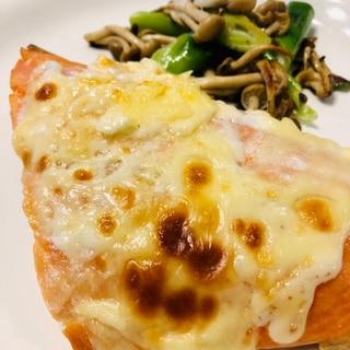 塩鮭が変身!鮭のマヨチーズ焼き