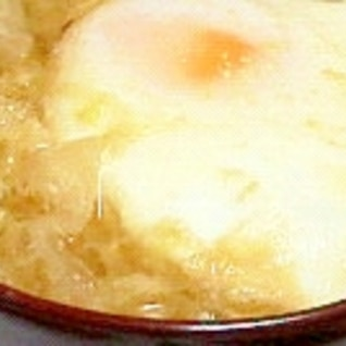【味噌汁】キャベツと玉子の味噌汁